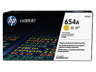 HP CF332A #654A Yellow Toner For M651n/M651dn/M651xh