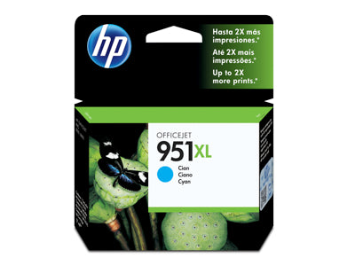 HP CN046AN #951XL Cyan Officejet Ink Cartridge