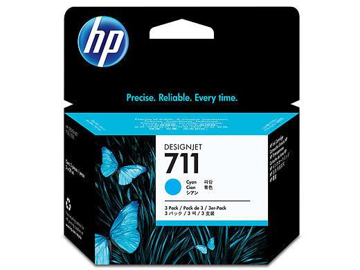 HP CZ134A HP #711 Cyan 3 PK Ink Cartridge