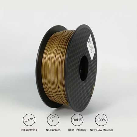 PLA Frosted Brass Filament 1Kg