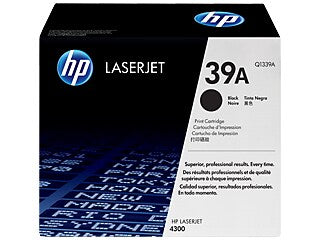 HP Q1339A #39A Black Toner Cartridge For Laserjet 4300