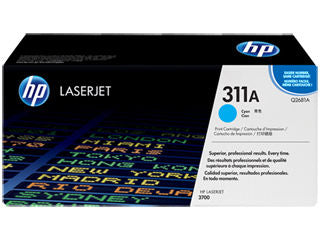 HP Q2681A #311A Cyan Toner For Color Laserjet 3700