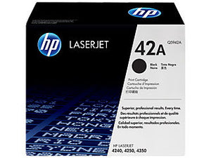 HP Q5942A #42A Black Toner For Laserjet 4250/4350/4240