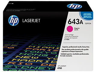 HP Q5953A #643A Magenta Toner For Color Laserjet 4700
