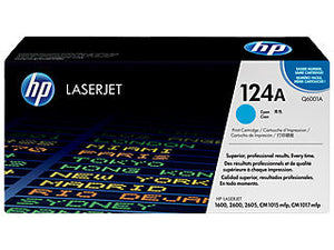 HP Q6001A #124A Cyan Toner Cartridge For Laserjet 2600