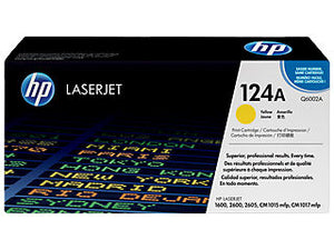 HP Q6002A #124A Yellow Toner Cartridge For Laserjet 2600