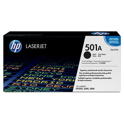 HP Q6470A #501a Black Cartridge For Laserjet 3600 / 3800