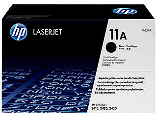 HP Q6511A #11A Black Toner For Laserjet 2400 Series