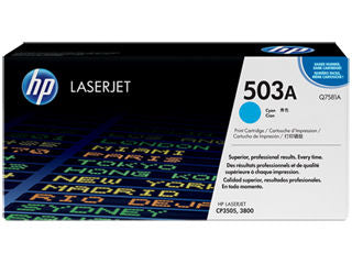 HP Q7581A #503A Cyan Toner For Color Laserjet 3800 Series