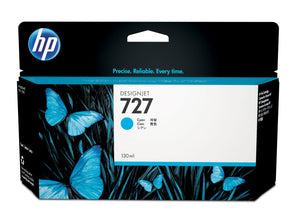 HP B3P19A #727 130-ml Cyan Ink Cartridge