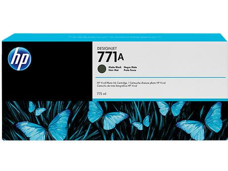 HP B6Y15A #771A 775ml Matte Black Ink Cartridge