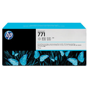 HP B6Y22A #771A 775ml LT Gray Ink Cartridge