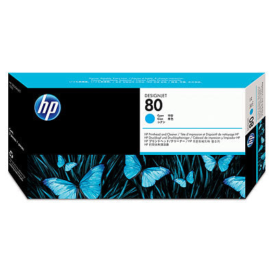 HP C4821A HP #80 Cyan Printhead & Cleaner For 1050c/1055cm