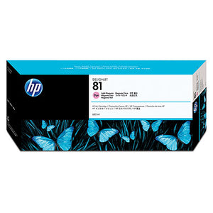 HP C4935A HP #81 Light Magenta Dye Ink Cartridge For Designjet 5000 Series