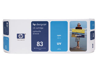 HP C4941A HP #83 Cyan Uv Ink Cartridge For Designjet 5000 Series