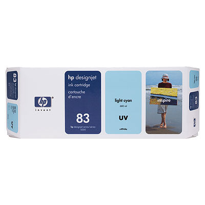 HP C4944A HP #83 Lt Cyan Uv Ink Cartridge For Designjet 5000 Series
