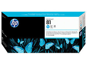 HP C4951A HP #81 Cyan Dye Printhead & Cleaner For Designjet 5000 Series