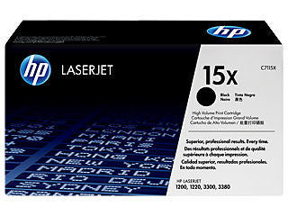 HP C7115X #15X High Yield Toner for LaserJet 1200