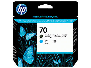 HP C9404A HP #70 Matte Black And Cyan Printhead