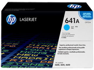 HP C9721A #641A Cyan Toner Cartridge For Colour Laserjet 4600