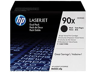 HP CE390XD #90X Dual Pack Black Toner For Enterprise 600 M6020DN, M4555F