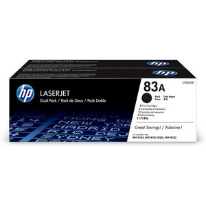 HP CF283A #83A Twin Pack Black For M127fn Mfp, M127fw Mfp, M201dw, M225dn, M225dw