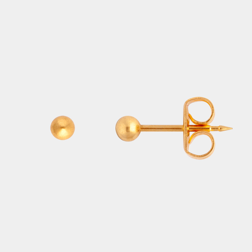 Studex 3mm Ball 24K Gold Stud