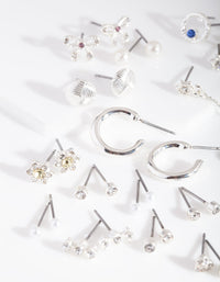 Silver Diamante Motif Earring 20 Pack - link has visual effect only