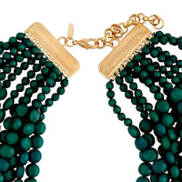 Gold Green Twelve Layer Facet Bead Necklace - link has visual effect only