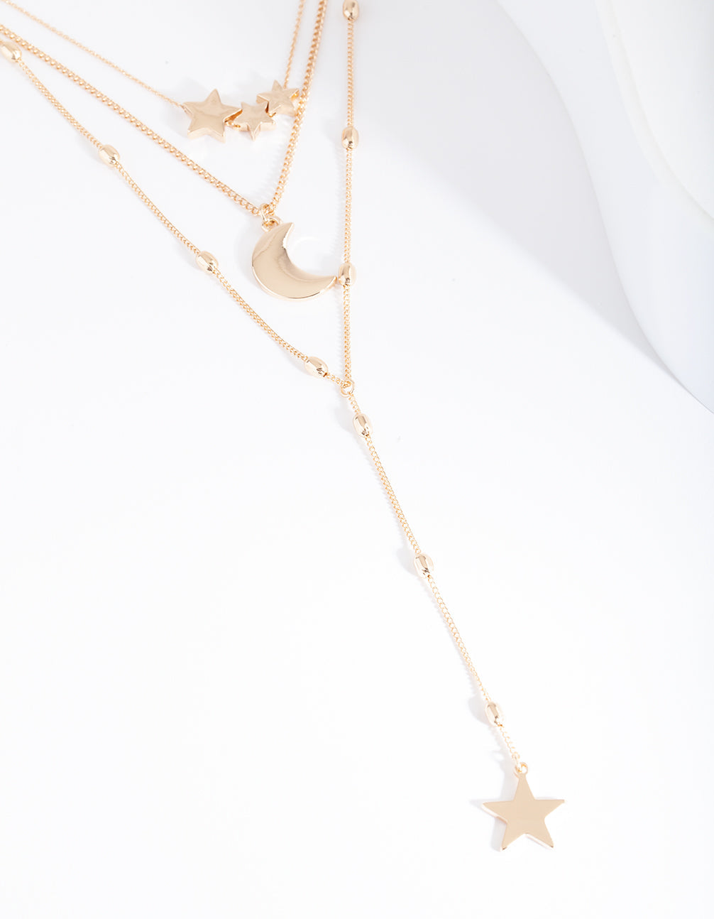 Gold Celestial Layered Necklace