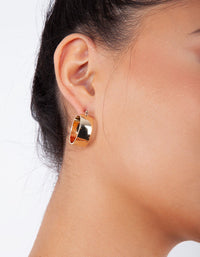 Gold Small Thick Hoop Earring - link has visual effect only