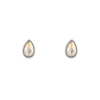 Silver Reflective Teardrop Earring - link has visual effect only