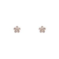 Sterling Silver Mini Diamante Flower Stud Earring - link has visual effect only