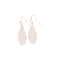 Rose Gold Filigree Lace Tear Drop Earring