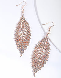 Rose Gold Leaf Drop Earring - link has visual effect only