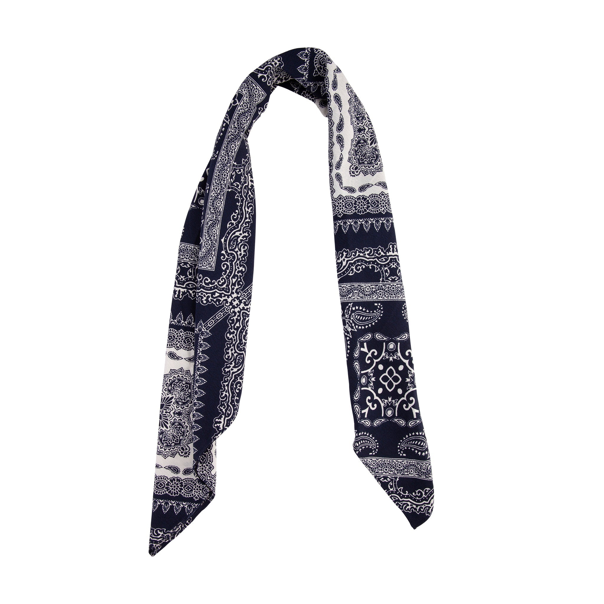 Square Blue White Bandana Scarf