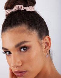 Pink Cubic Zirconia Cluster Earring - link has visual effect only