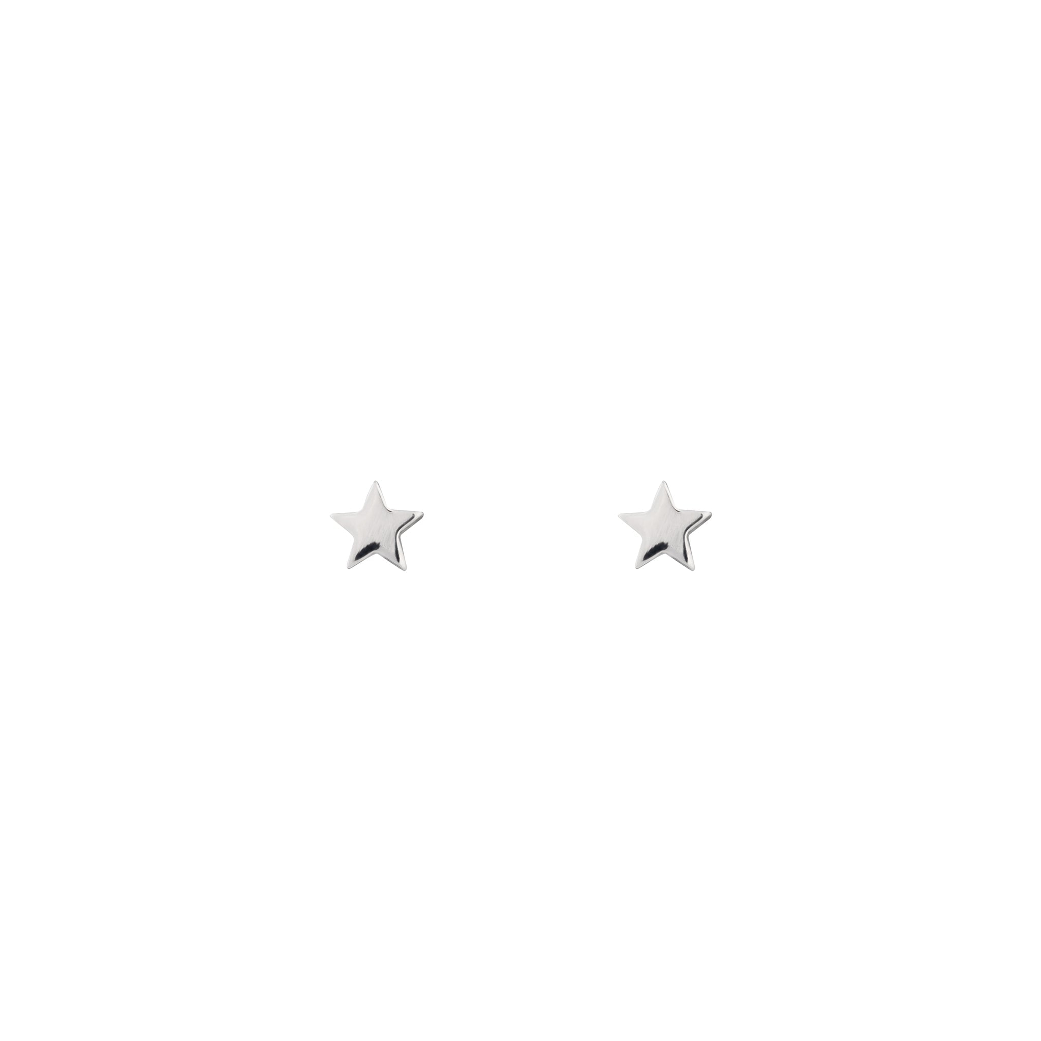 Sterling Silver Mini Star Stud Earring
