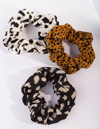 Mixed Leopard Scrunchie 3 Pack - link has visual effect only