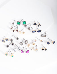 Mixed Metal Multi Stud Earring 20 Pack - link has visual effect only