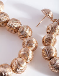 Rose Gold Cord Wrap Earring - link has visual effect only