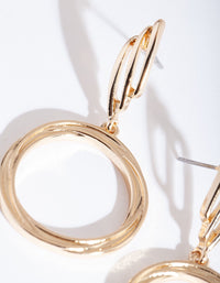 Gold Wrapped Circle Drop Earring - link has visual effect only