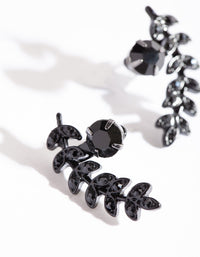 Black Leaf Climber Stud Earring - link has visual effect only