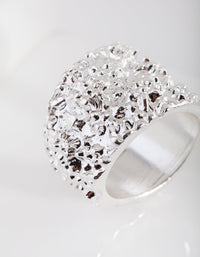 Silver Crater Fashion Ring