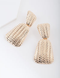 Gold Chevron Dome Drop Earring - link has visual effect only