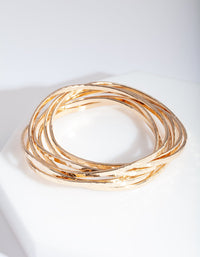 Gold Molten Bangle Pack