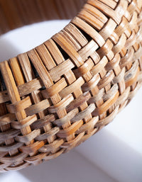 Brown Raffia Chunky Bangle - link has visual effect only