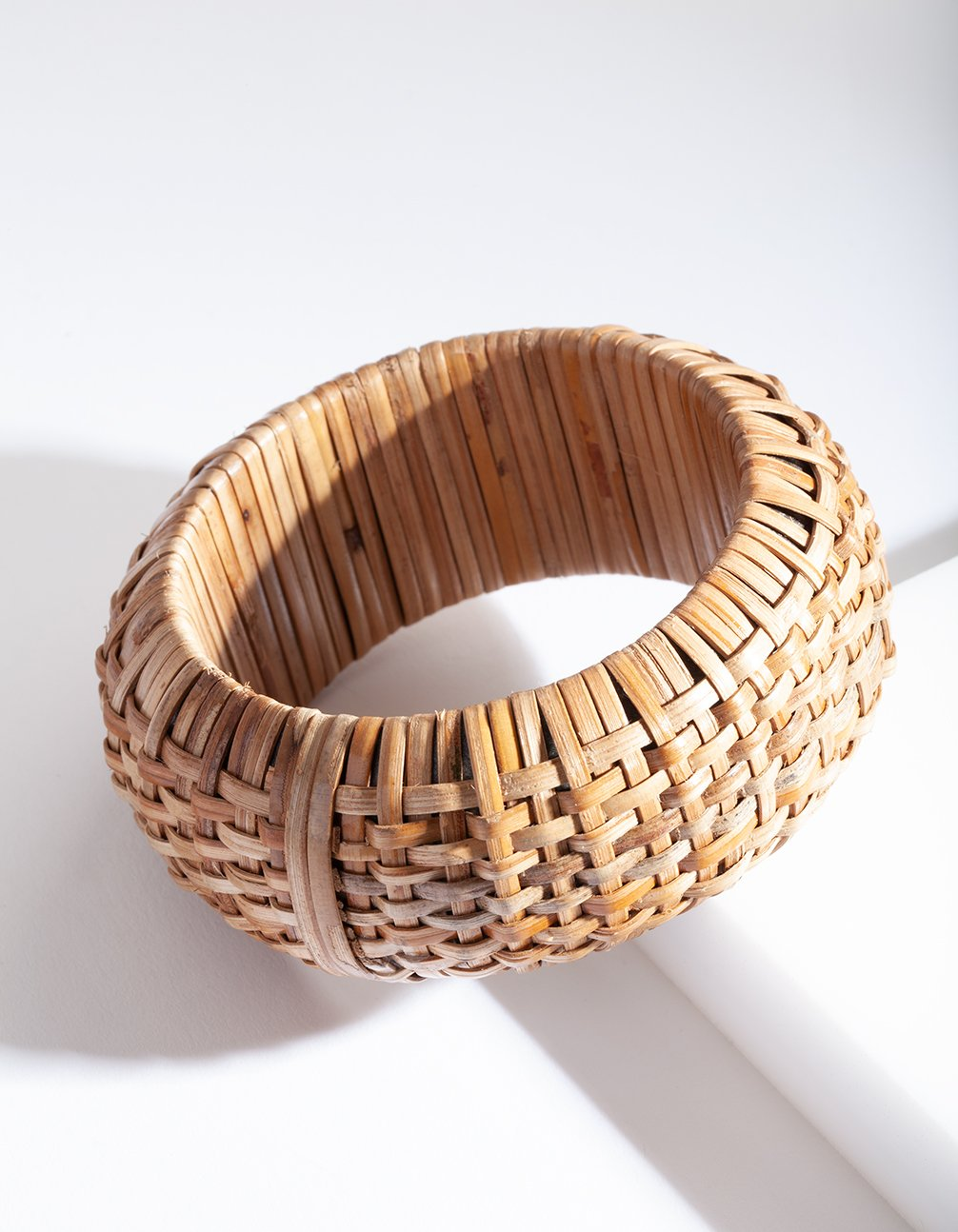 Brown Raffia Chunky Bangle