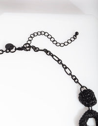 Black Textured Cut-Out Necklace - link has visual effect only