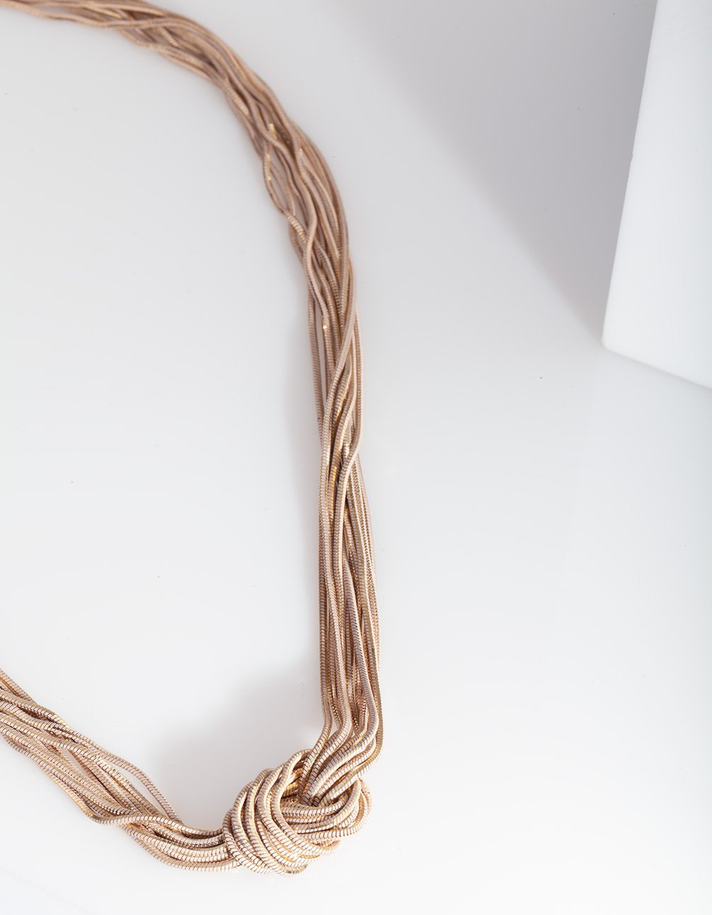 Rose Gold Thread Chain Necklace